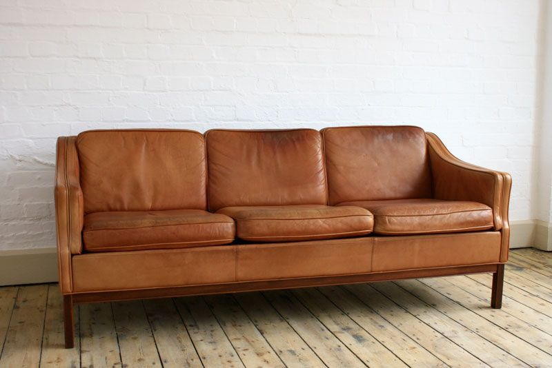 Guiden | Prop Hire | Brown leather couch, Light brown leather .