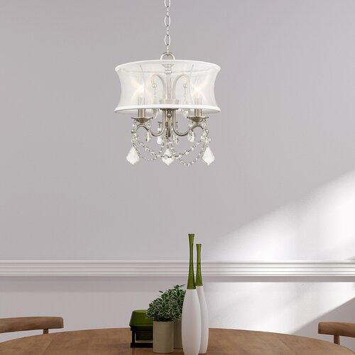 Willa Arlo Interiors Aron Convertible 3-Light Drum Chandelier .
