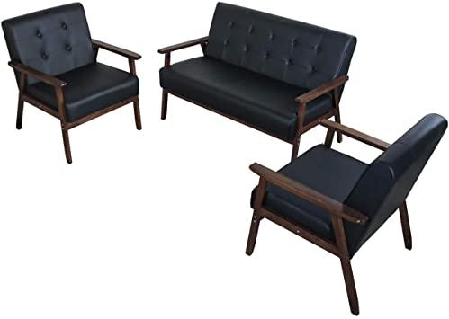 Amazon.com: JIASTING Mid Century 1 Loveseat Sofa and 2 Accent .
