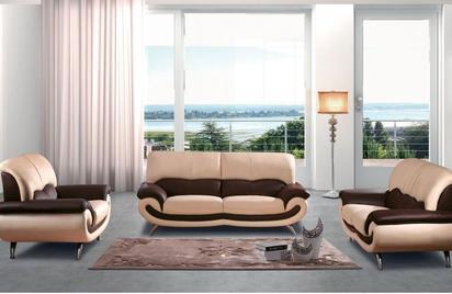 27 Modern Leather Sofa Set (One Sofa / Loveseat / Chair)-Buy ($989 .