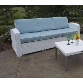Lawson Patio Sofa with Cushions in 2020 | Patio sofa, Outdoor sofa .