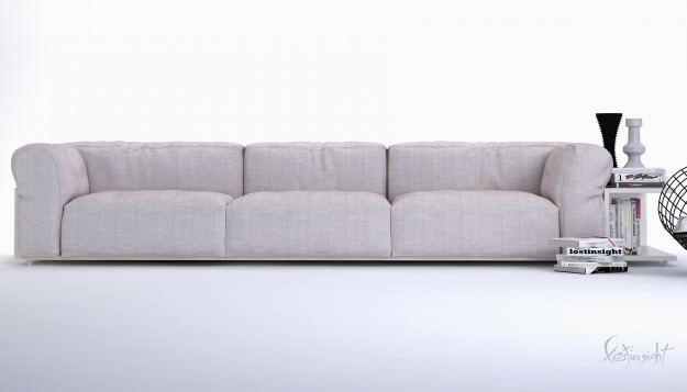 3D model Modern long sofa | CGTrad