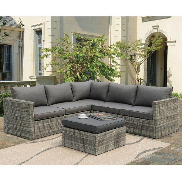 Lorentzen Patio Sectional with Cushions | Patio furnishings, Patio .