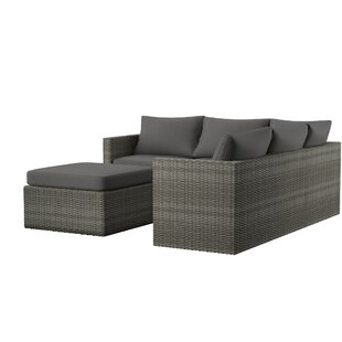 Modern & Contemporary Outdoor Sectional With Ottoman | AllMode