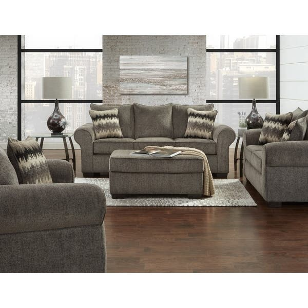Shop SofaTrendz Cherokee Pewter Sofa, Loveseat & Ottoman 3-pc Set .
