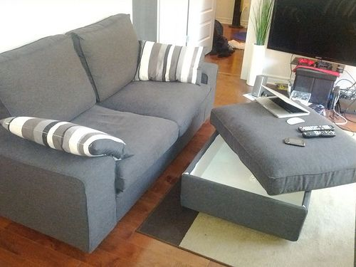 QUICK SALE: IKEA Sofa/ Couch KIVIK LOVESEAT/OTTOMAN - Brand New .