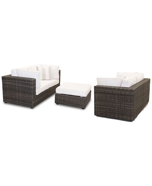 Furniture Viewport Outdoor 5-PC Loveseat Modular Seating Set (2 .