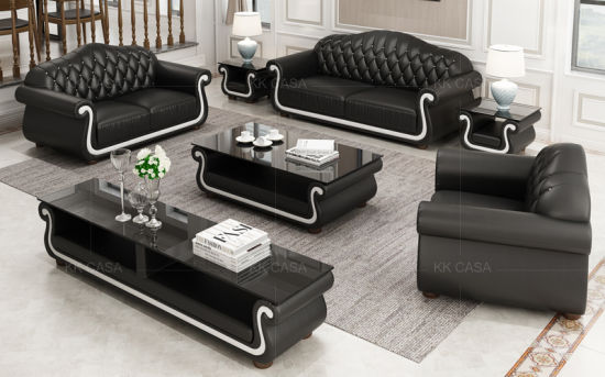China New Color Italian Sofa Modern Furniture Leather 1+2+3 Luxury .
