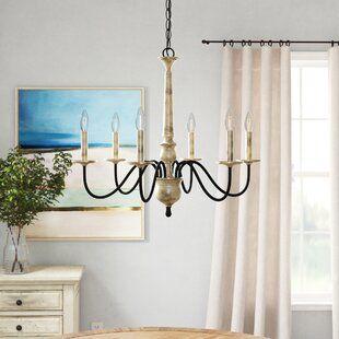 Lynn 6-Light Geometric Chandelier | Joss & Main | Candle style .