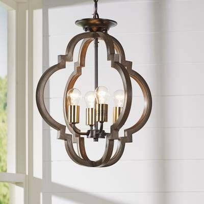 Lynn 6-Light Foyer Pendant & Reviews | Joss & Main | Geometric .