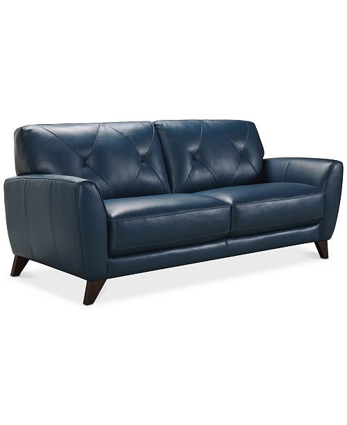"Furniture Myia 82"" Leather Sofa, Created for Macy's & Reviews ."