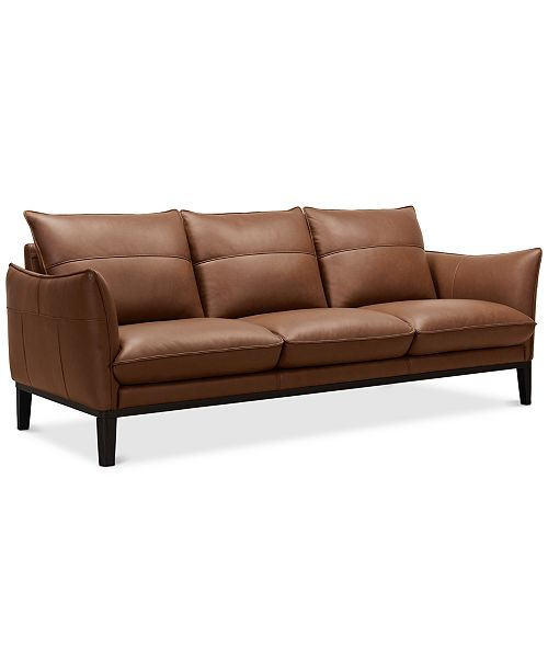 "Furniture Chanute 88"" Leather Sofa, Created for Macy's & Reviews ."