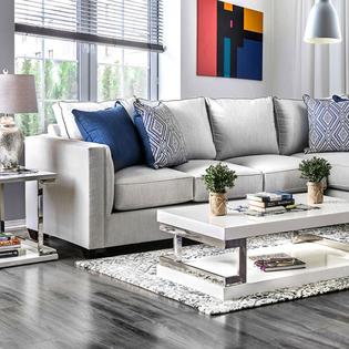 Furniture of America Made In USA Sectional Sofa Living Room .