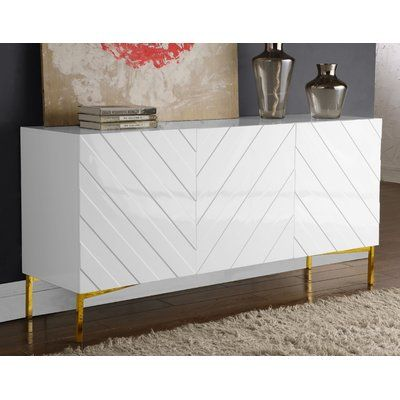 "Mercury Row Malcom 64"" Wide Birch Wood Sideboard 