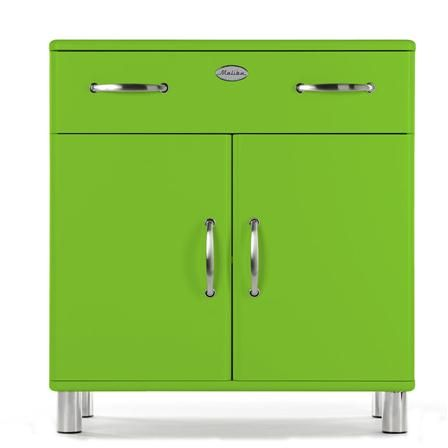 Malibu 2 Door & 1 Drawer Cupboard, Green | Drawers, Locker storage .