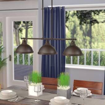 Brummett 3 - Light Kitchen Island Linear Pendant | Kitchen island .