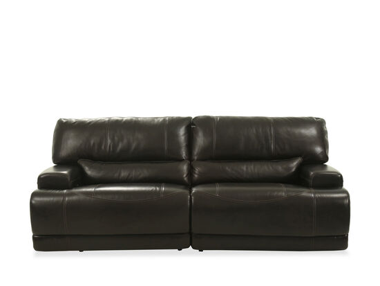 "Power Reclining Leather 91"" Sofa in Blackberry 