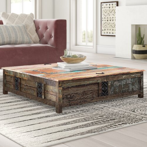 Bloomsbury Market Mcdonnell Solid Wood Coffee Table with Storage .