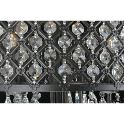 Mckamey 4 - Light Candle Style Drum Chandelier with Crystal .