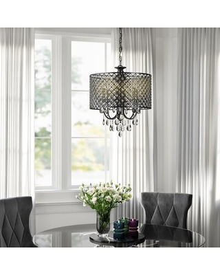 New Savings on Mckamey 4 - Light Candle Style Drum Chandelier with .