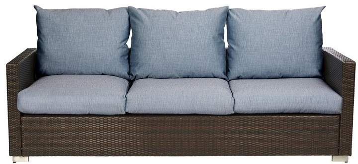 Mcmanis Patio Sofa with Cushion | Patio loveseat, Sofa set, 3 .