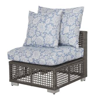 Ivy Bronx Mcmanis Outdoor Open Weave Rattan Patio Chair with .