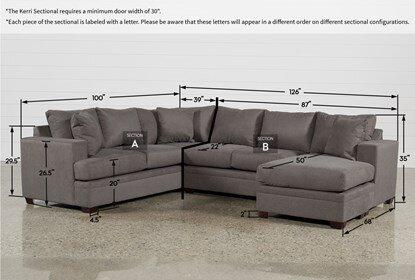 Measurements Sectional Sofas