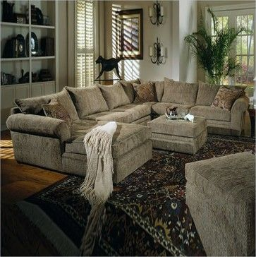 Media Room Sectional - Coaster Westwood Hardwood Chenille Pillow .