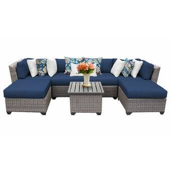 Meeks 8 Piece Sectional Seating Group with Cushions & Reviews .