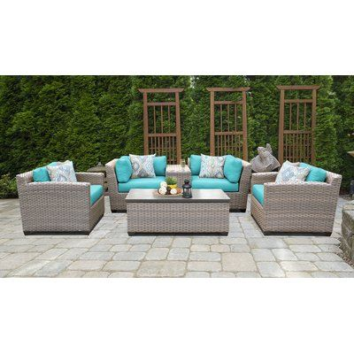 Rosecliff Heights Meeks 6 Piece Sectional Seating Group Set with .