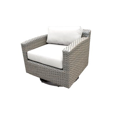 Rosecliff Heights Meeks Swivel Patio Chair with Cushions Color .