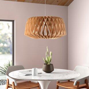 Modern Hardwired Wood / Bamboo Pendant Lighting | AllMode