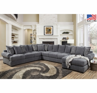 Memphis 4-Pc Thunder RAF Sectional (Oversized) by Comfort .
