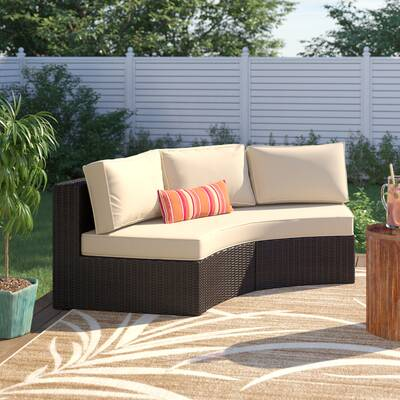 Michal Patio Sofas With Cushions