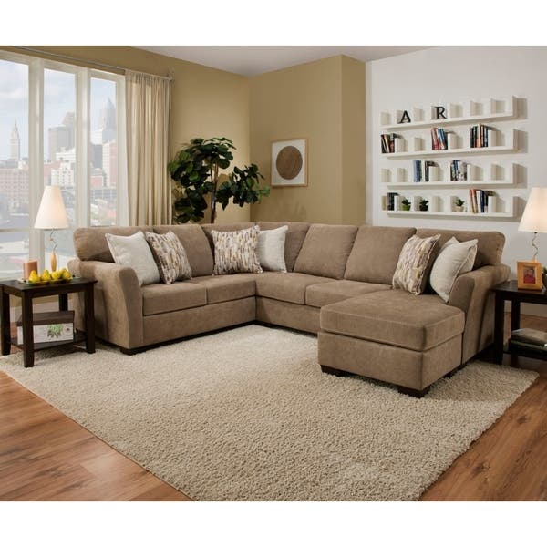 Shop Simmons Upholstery Michigan Sectional Sofa - Overstock - 224383