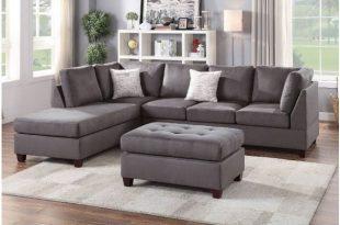 Casablanca Grey Microfiber Sectional Sofa S