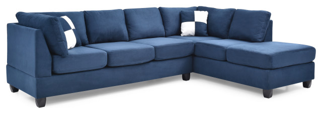 Solana Micro Suede Sectional - Transitional - Sectional Sofas - by .