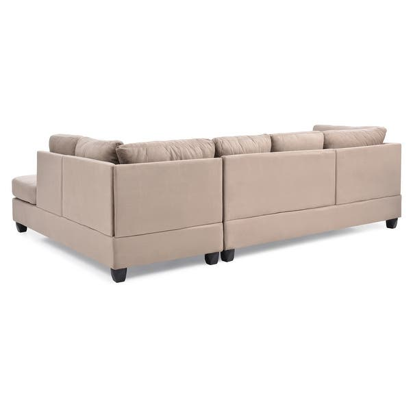 Shop Gallant Microsuede Sectional Sofa - Overstock - 319189