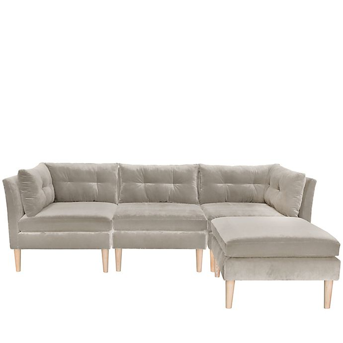 Skyline Furniture Varick Microsuede 3-Piece Sectional Sofa with .