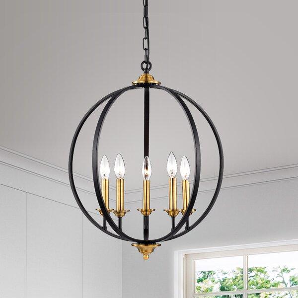 Gracie Oaks Millbrook 5 - Light Candle Style Globe Chandelier .