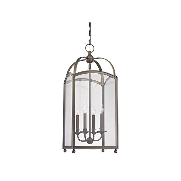 Shop Hudson Valley Millbrook 4-light Distressed Bronze Chandelier .
