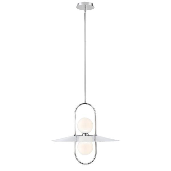 Eurofase Millbrook 10-Watt Chrome Chandelier Integrated LED with .