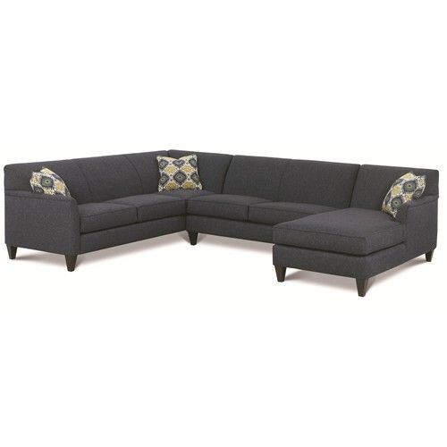 Rowe Varick-RXO   Rowe furniture, Custom sectional couch, Fabric .