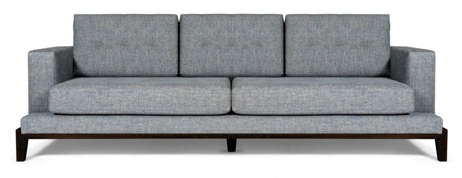 Contemporary sofa / fabric / 3-seater / gray – OAKLAND – MARIE'S .