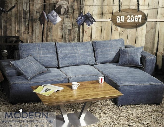 Excellent Denim Sectional With Modern Denim Sectional Sofa Bg .