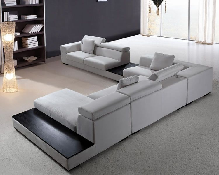 Large Microfiber Modern Sectional | Modern sofa sectional .