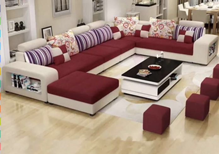 Source Factory wholesale fabric U shaped sectional sofa, modern .