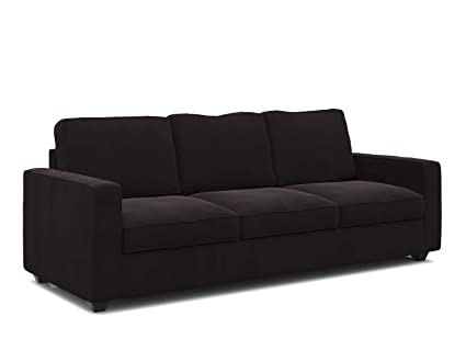 Forzza Montreal Three Seater Sectional Sofa (Dark Brown): Amazon .