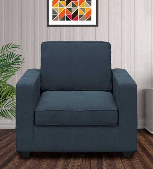 Buy Montreal Single Seater Sectional Sofa in Blue Colour by Forzza .