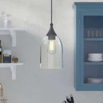 Moris 1 - Light Single Bell Pendant | Farmhouse pendant lighting .
